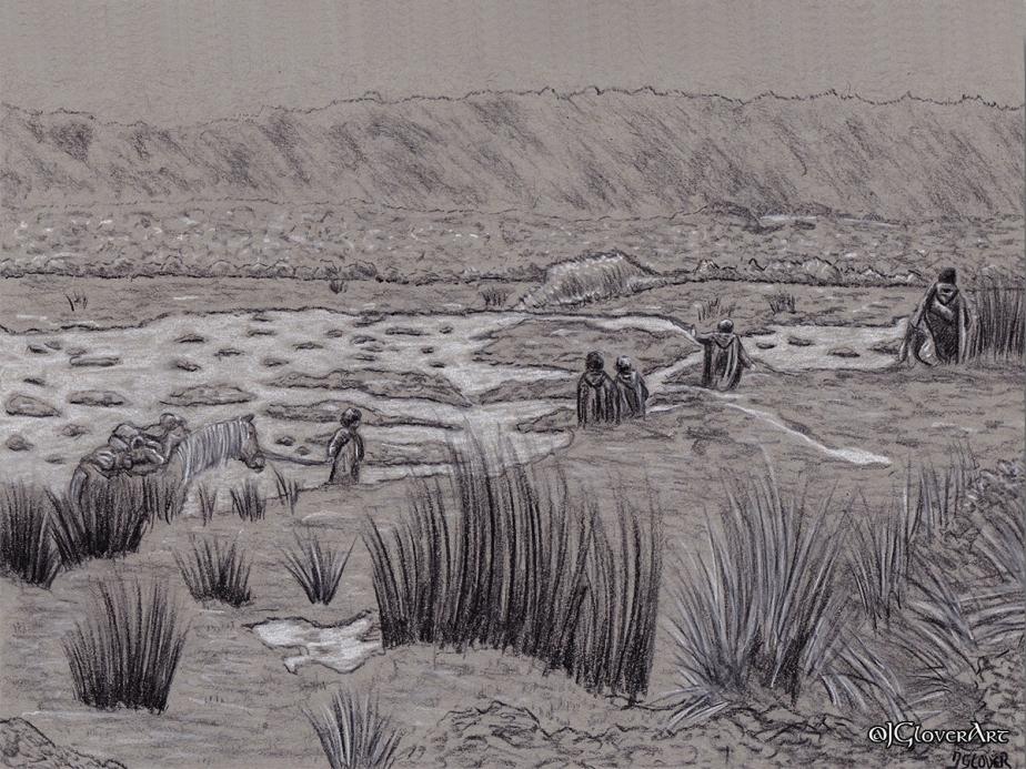 strider hobbits aragorn lord of the rings lotr art illustration tolkien fantasy sketch drawing charcoal