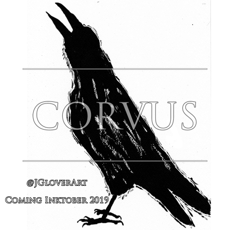 corvus a ravens tale logo promo teaser inktober ink drawing story illustration art crow raven