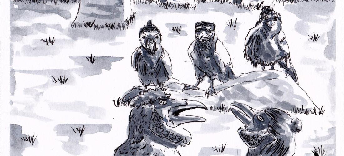 Corvus - Art - Illustration - Graphic Novel - Web Comic - Ravens - Crows - Art - Book - Story