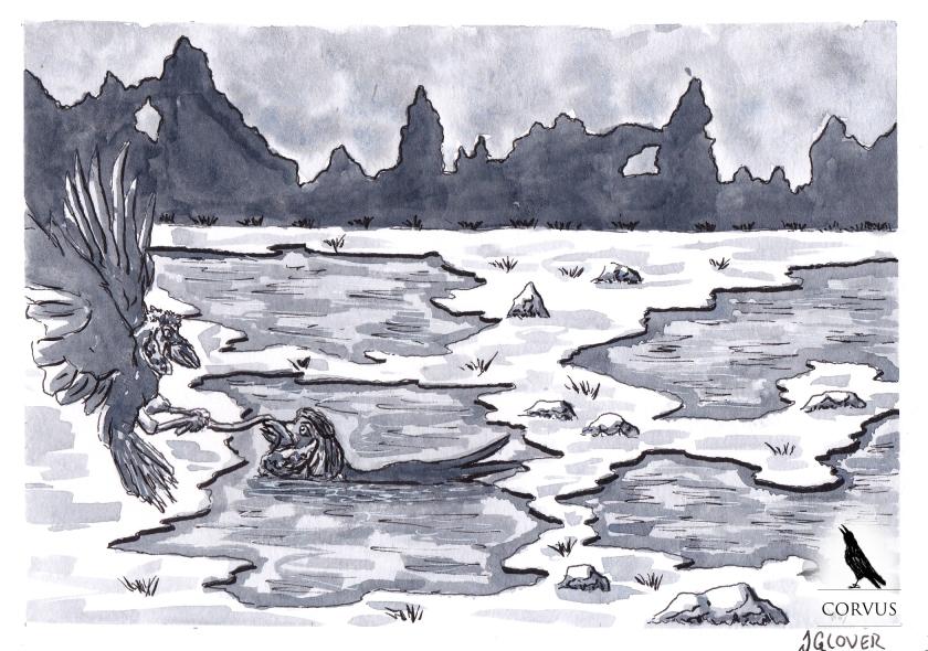 Corvus - Graphic Novel - Fantasy - Art - Illustration - Webcomic - Raven - Ravens - Norse - Crows - Story