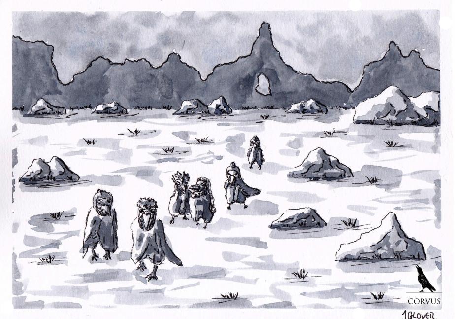 Corvus - Art - Illustration - Fantasy - Graphic Novel - Web Comic - History - Landscape - Raven - Crow - Corvid - Cartoon