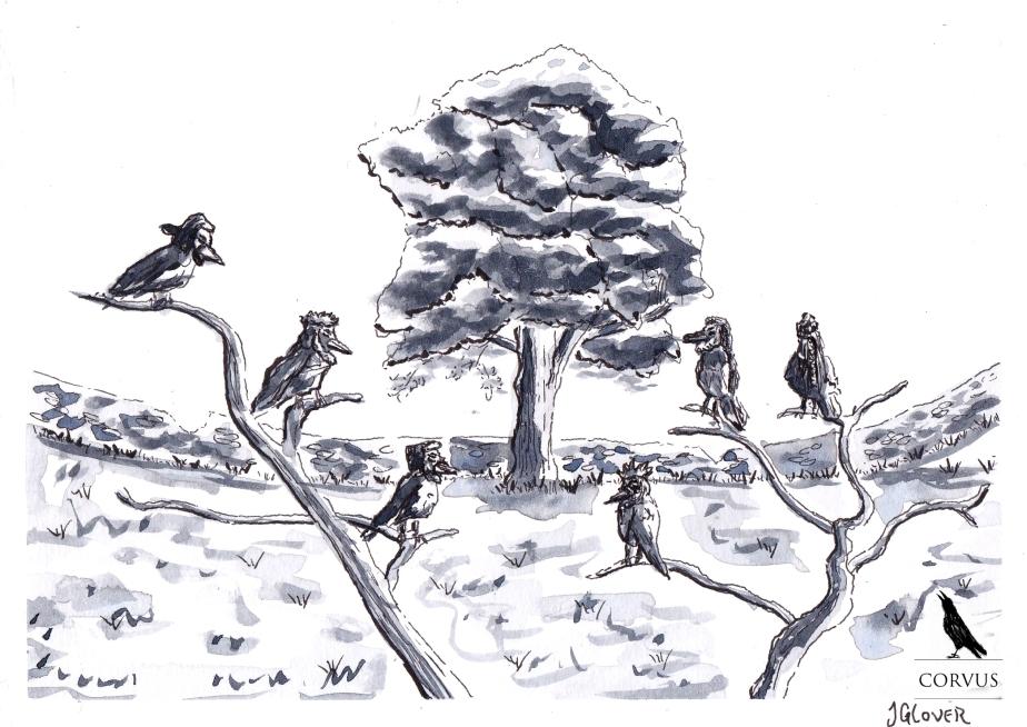 Corvus - Art - Illustration - Fantasy - Graphic Novel - Webcomic - Drawing - Inktober - Raven - Crow - Story