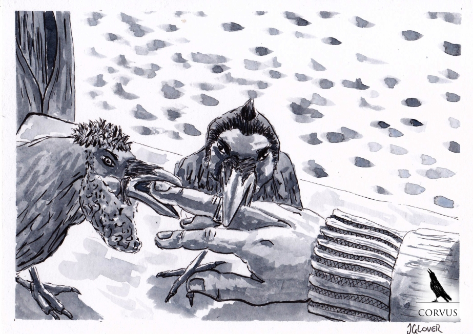Corvus - Art - Illustration - Graphic Novel - Webcomic - Story - Fiction - Fantasy - Raven - Folklore
