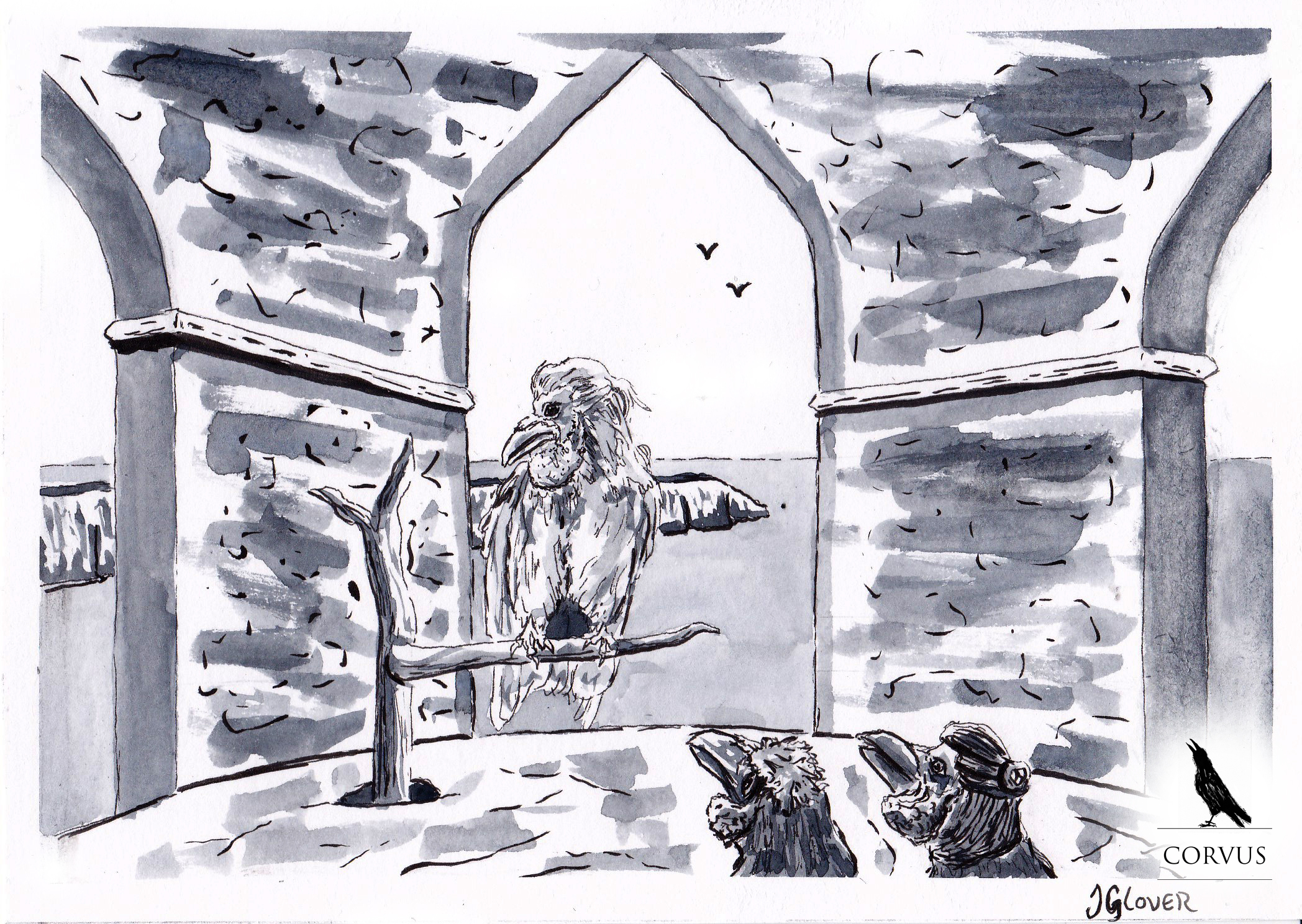 Corvus - graphic novel - raven - crow - webcomic - fantasy - art - illustration - story