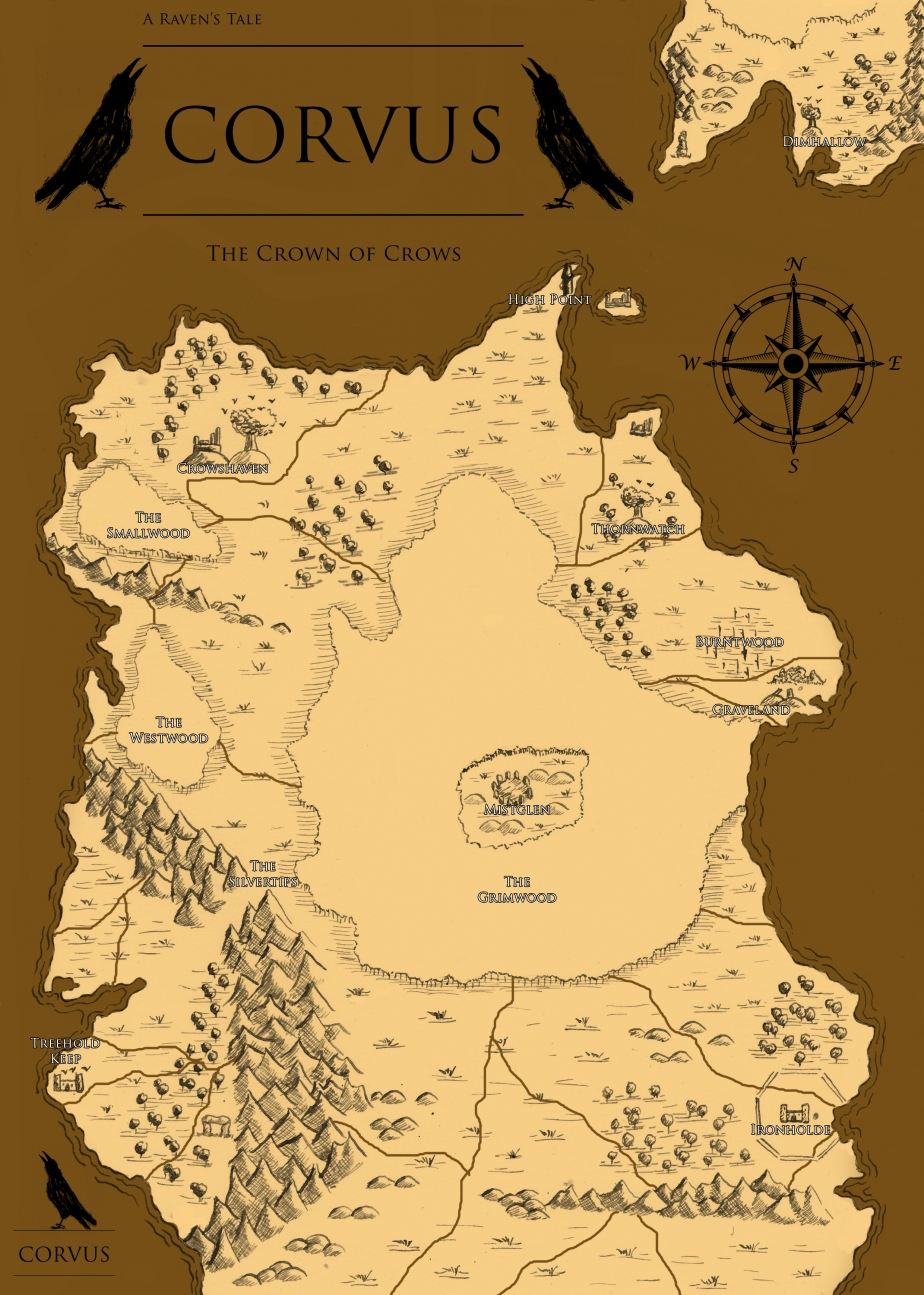 corvus - fantasy - graphic novel - story - fantasy - art - illustration - map - fiction