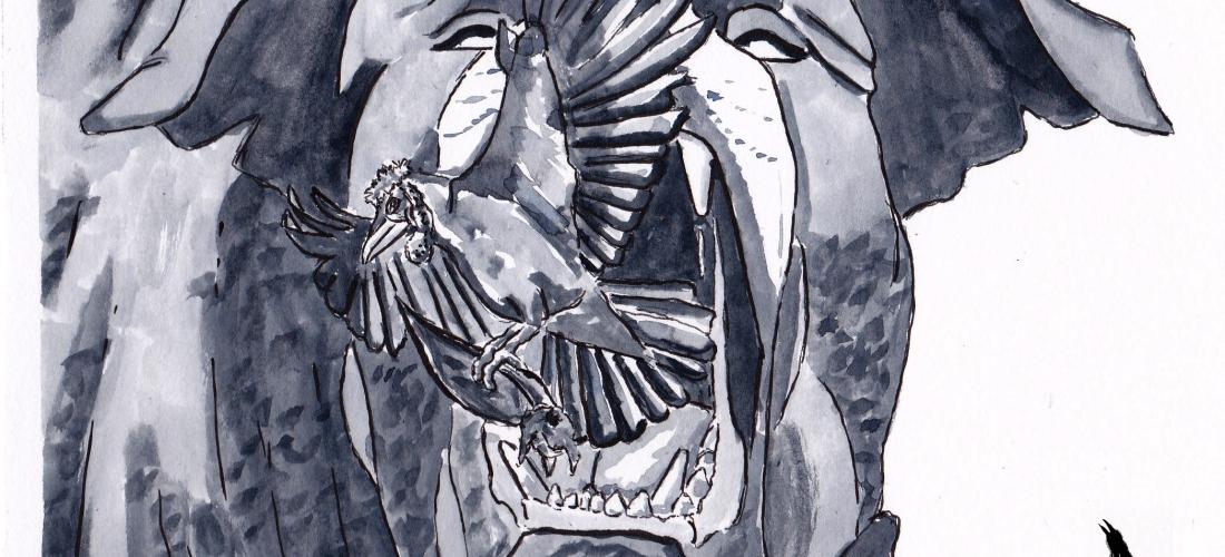Corvus - Art - Illustration - Graphic Novel - Web Comic - Raven - Viking - Dog - Folklore