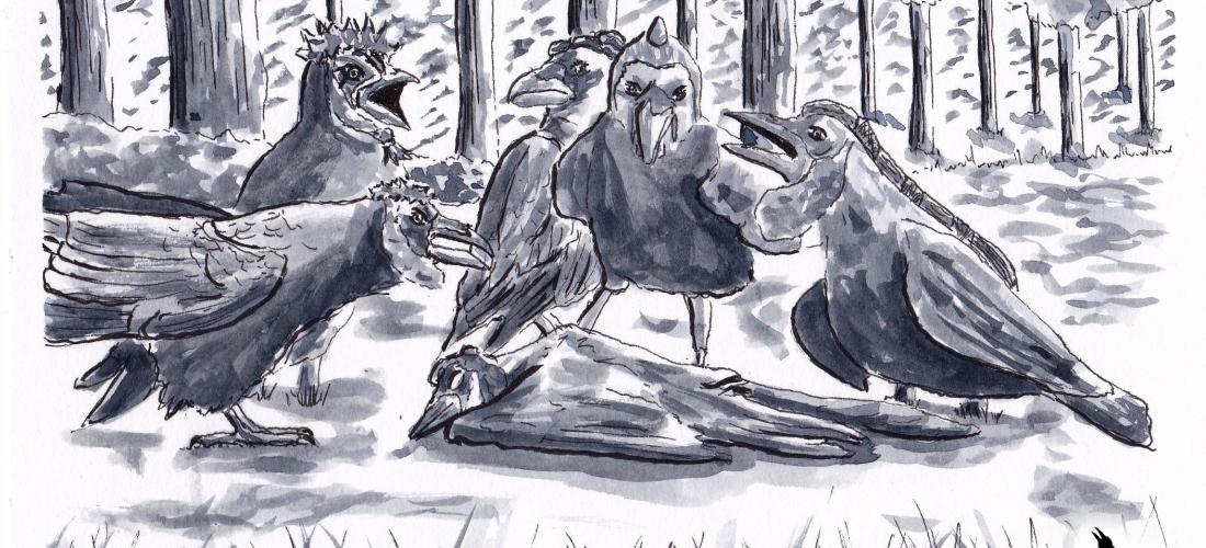 Corvus - Graphic Novel - Webcomic - Art - Illustration - Raven - Story