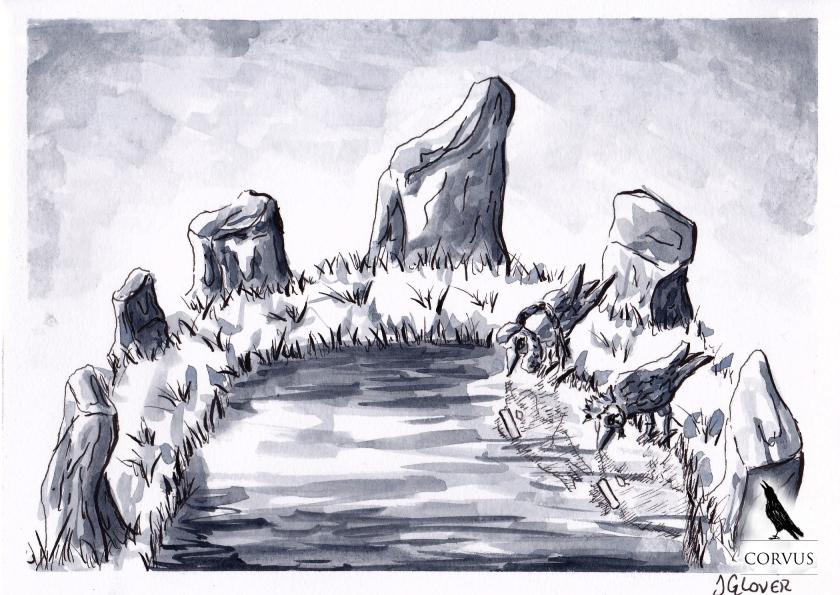 Corvus - Art - Illustration - Graphic Novel - Drawing - Folklore - Raven - Ravens - Crow - Fantasy
