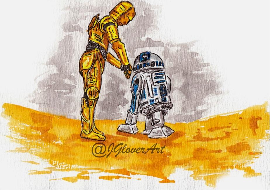 Star Wars - Art - Fan Art - Illustration - A New Hope - Rise of Skywalker - Skywalker - Mandalorian -