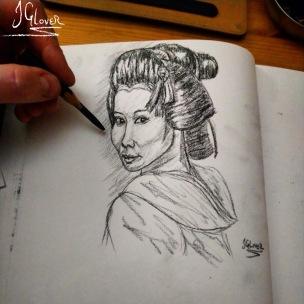 Maiko Apprentice Geisha Sketch