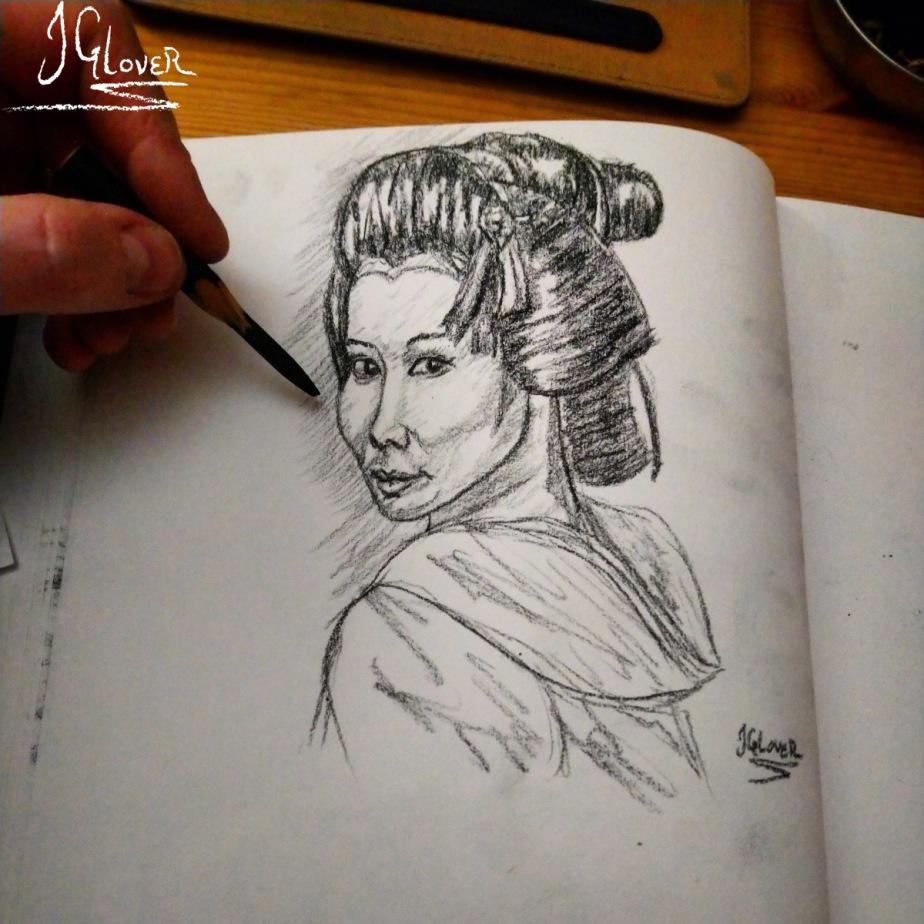 Geisha Sketchbook Pages