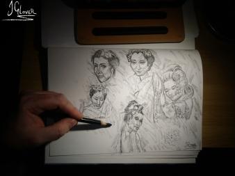 Geisha Face Sketch Page