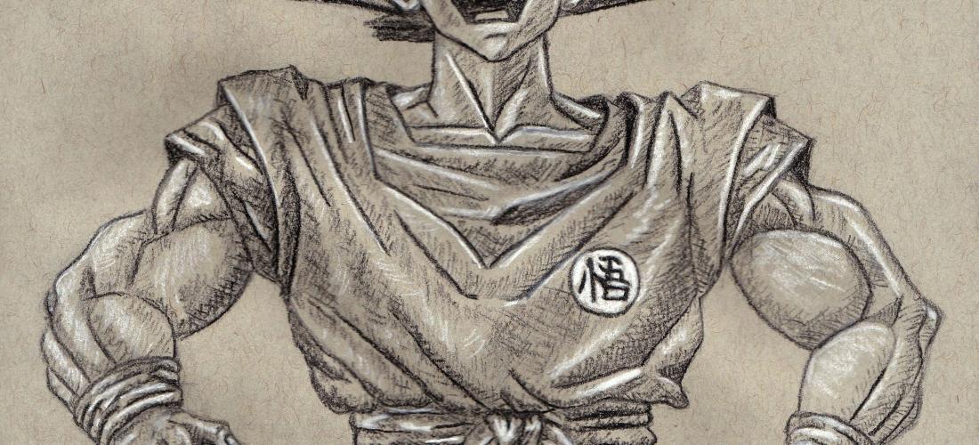 goku - kakarot - dragon ball z - dragonball - anime - manga - art - illustration - charcoal - figure drawing