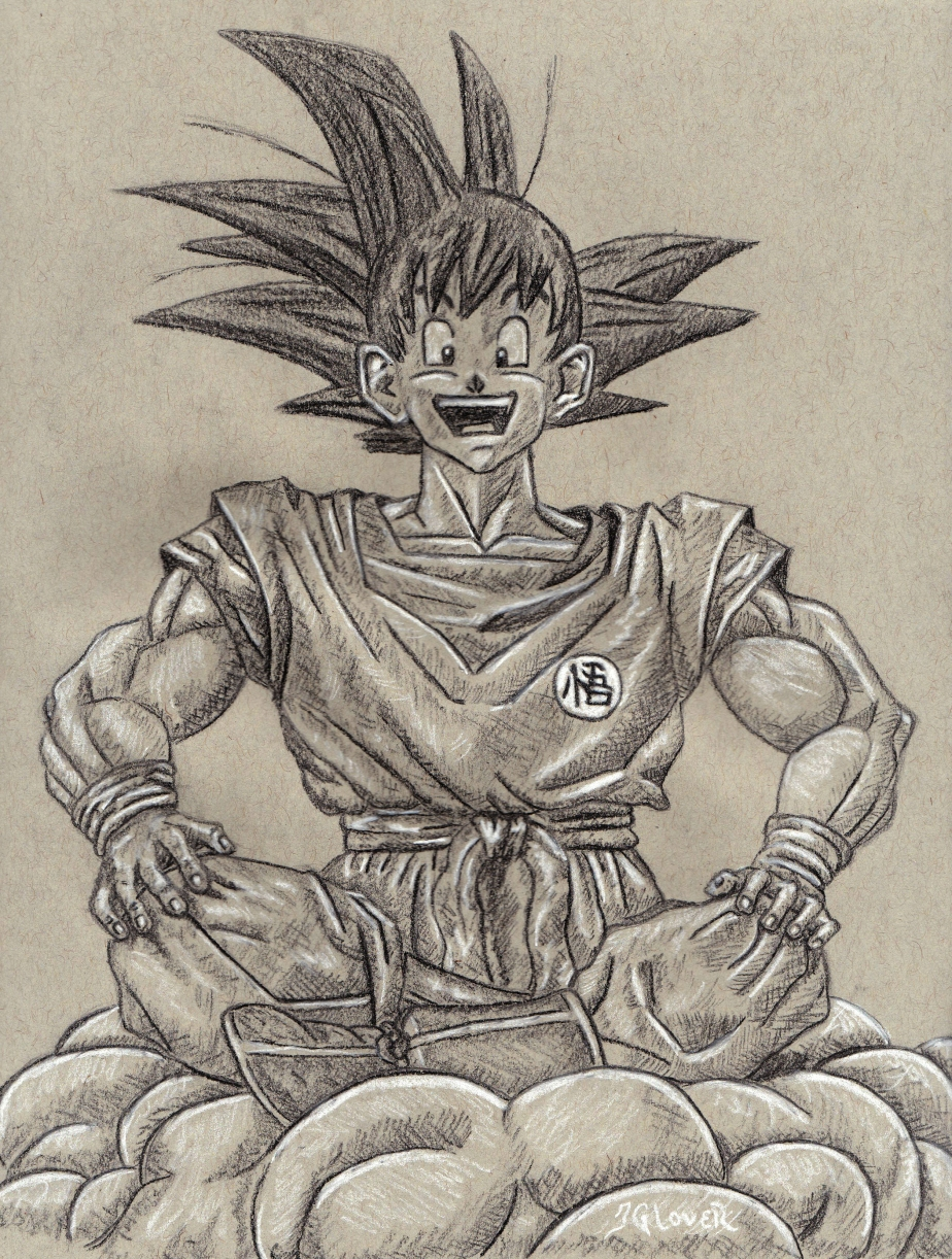 goku - kakarot - dragon ball z - dragonball - anime - manga - art - illustration - charcoal - figure drawing