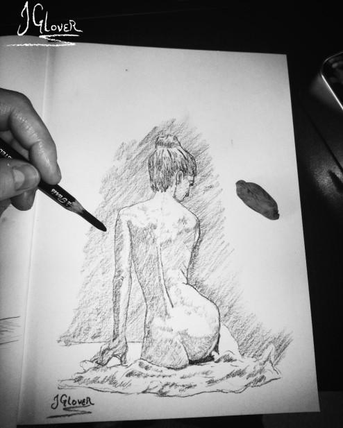 Nude Geisha Sketch