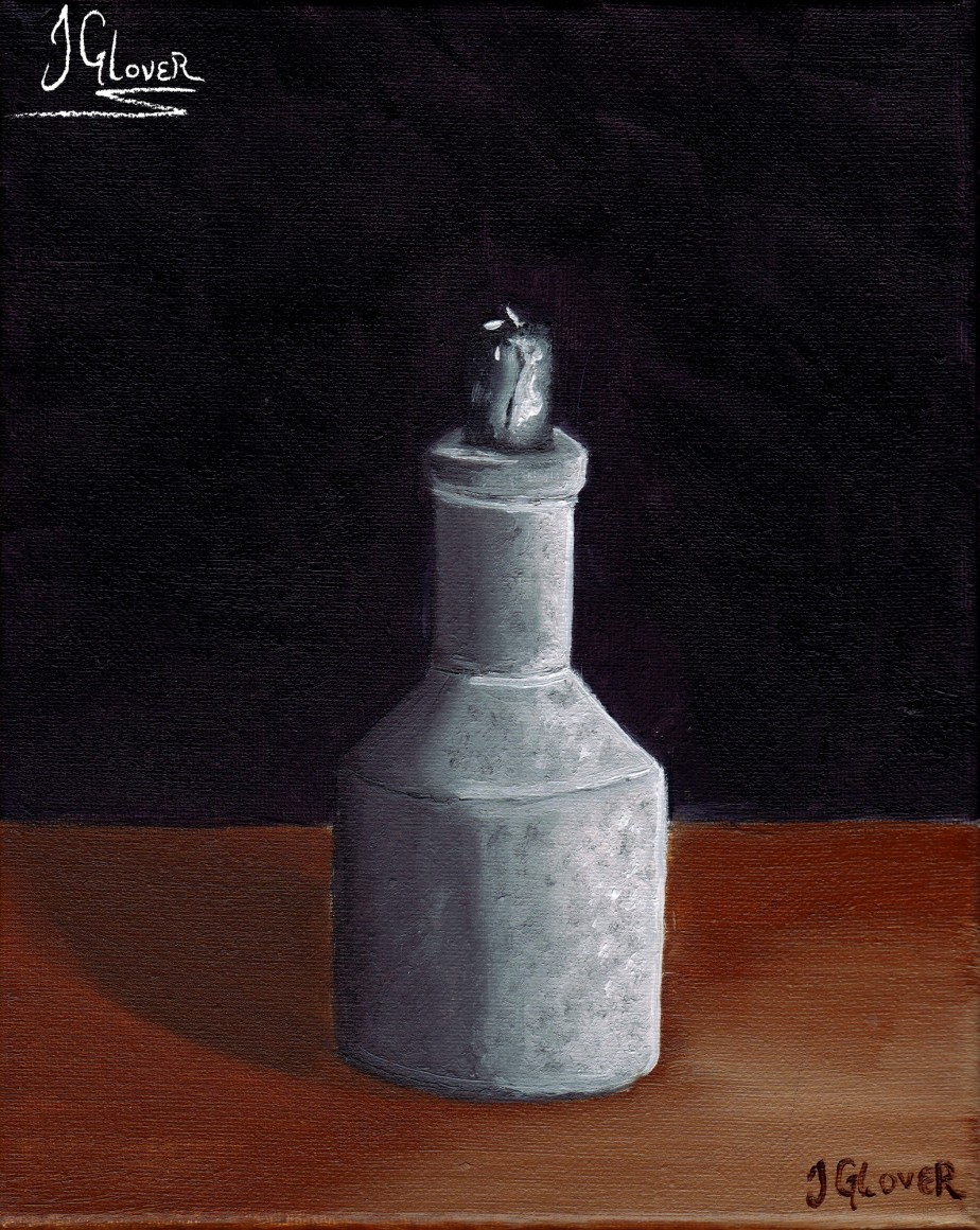 Candle Holder – Alla Prima – Still Life – Oil Painting