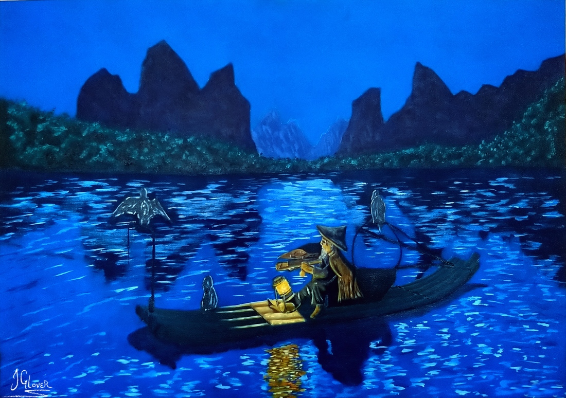 Cormorant Fisherman - Oil Painting - History - Traditional - Travel - Story - Portrait - JGlover