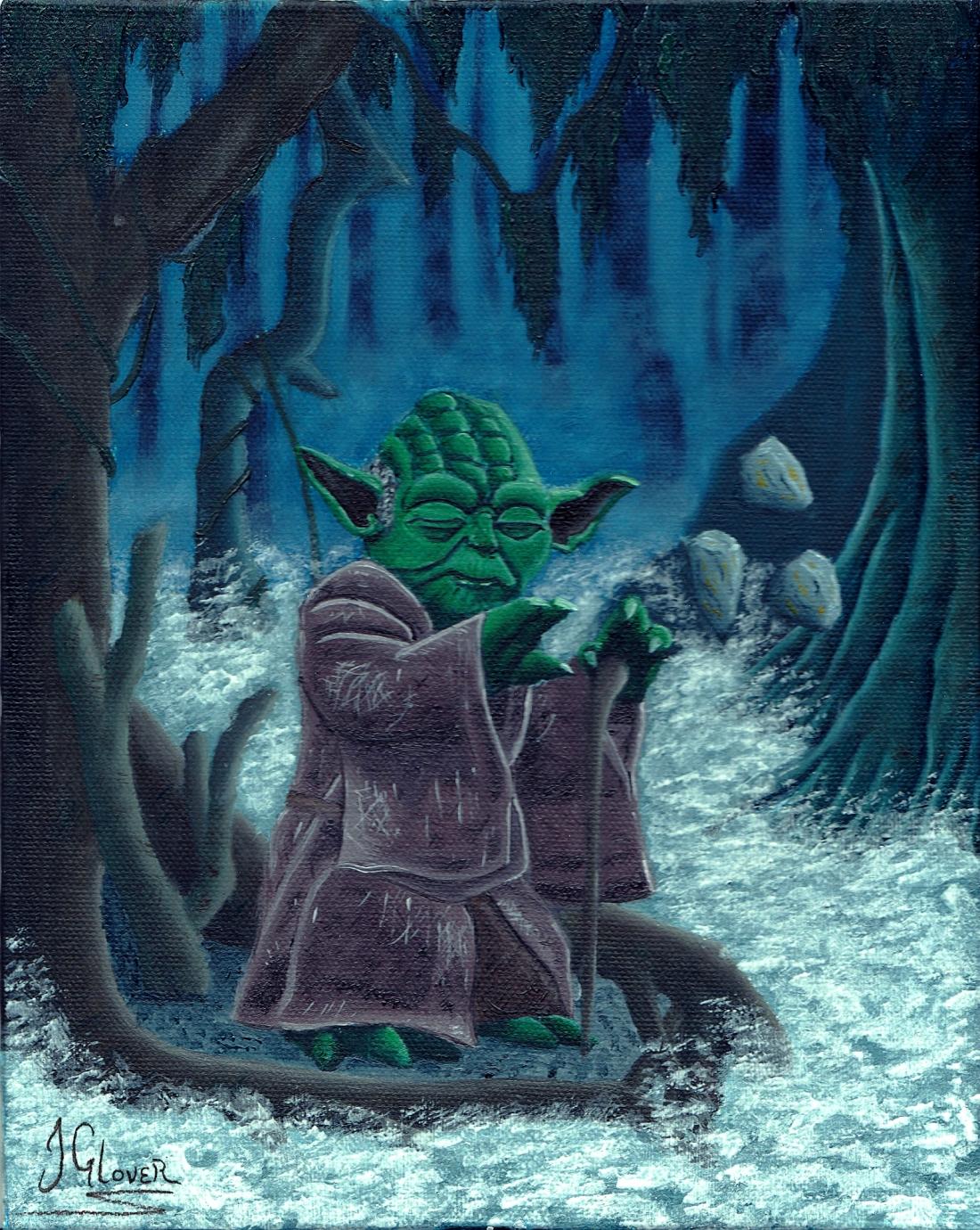 Jedi Master Yoda on Dagobah