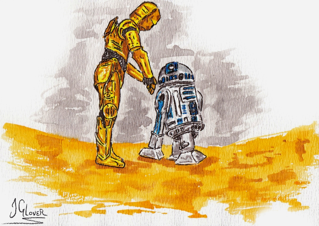 Josh Glover - C-3PO & R2D2 Star Wars Print 5 x 7