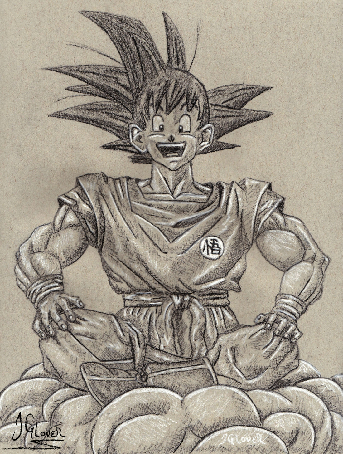 Kakarot - Son - Goku - Charcoal Drawing - Illustration - Dragon Ball Art
