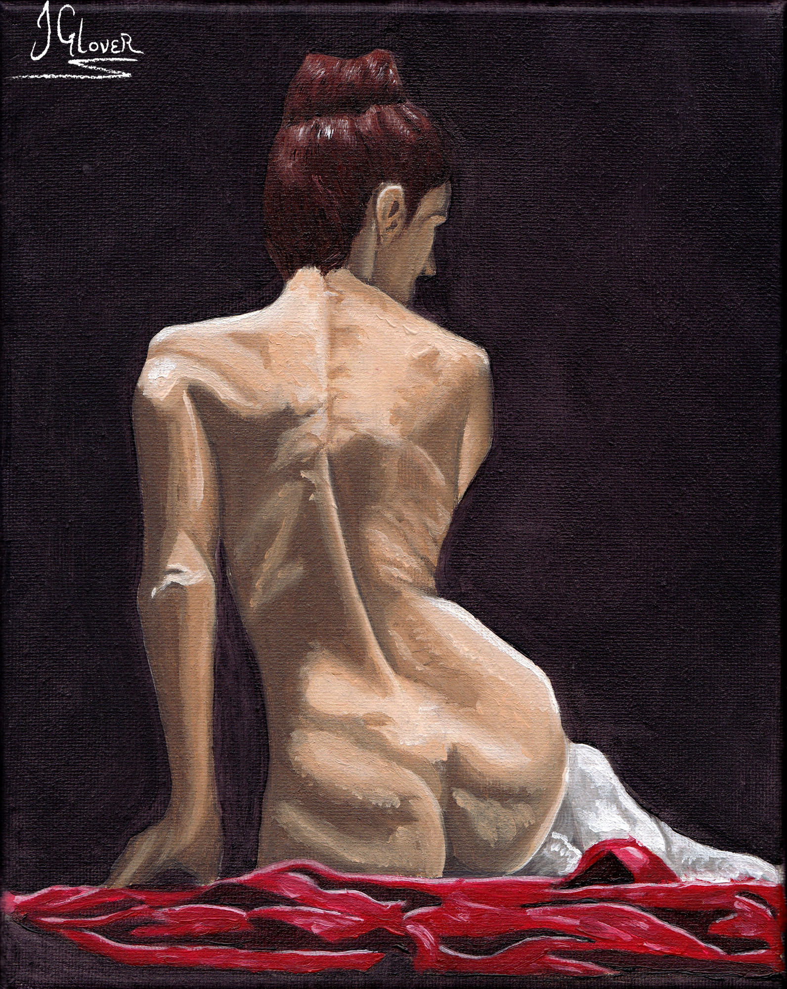 Nude Geisha Girl Model Life Drawing Painting Figure Study Art