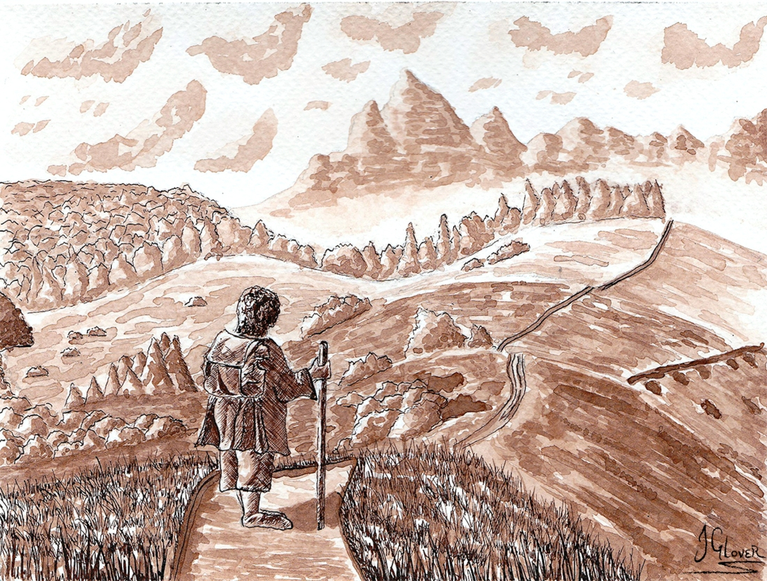 The Road Goes Ever On - Bilbo Baggins
