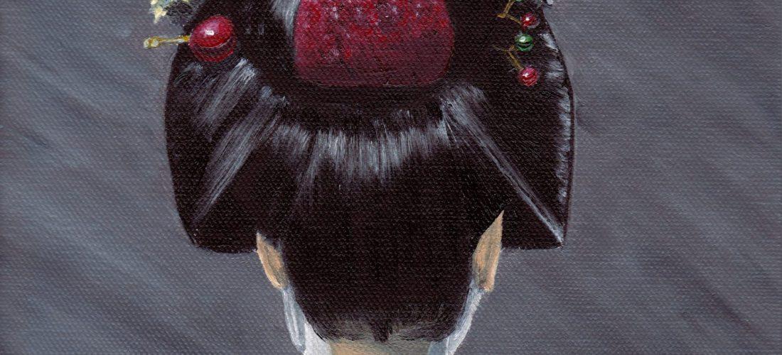 Cropped - Maiko - Geisha - Portrait - Oil Painting - Art - London - JGlover