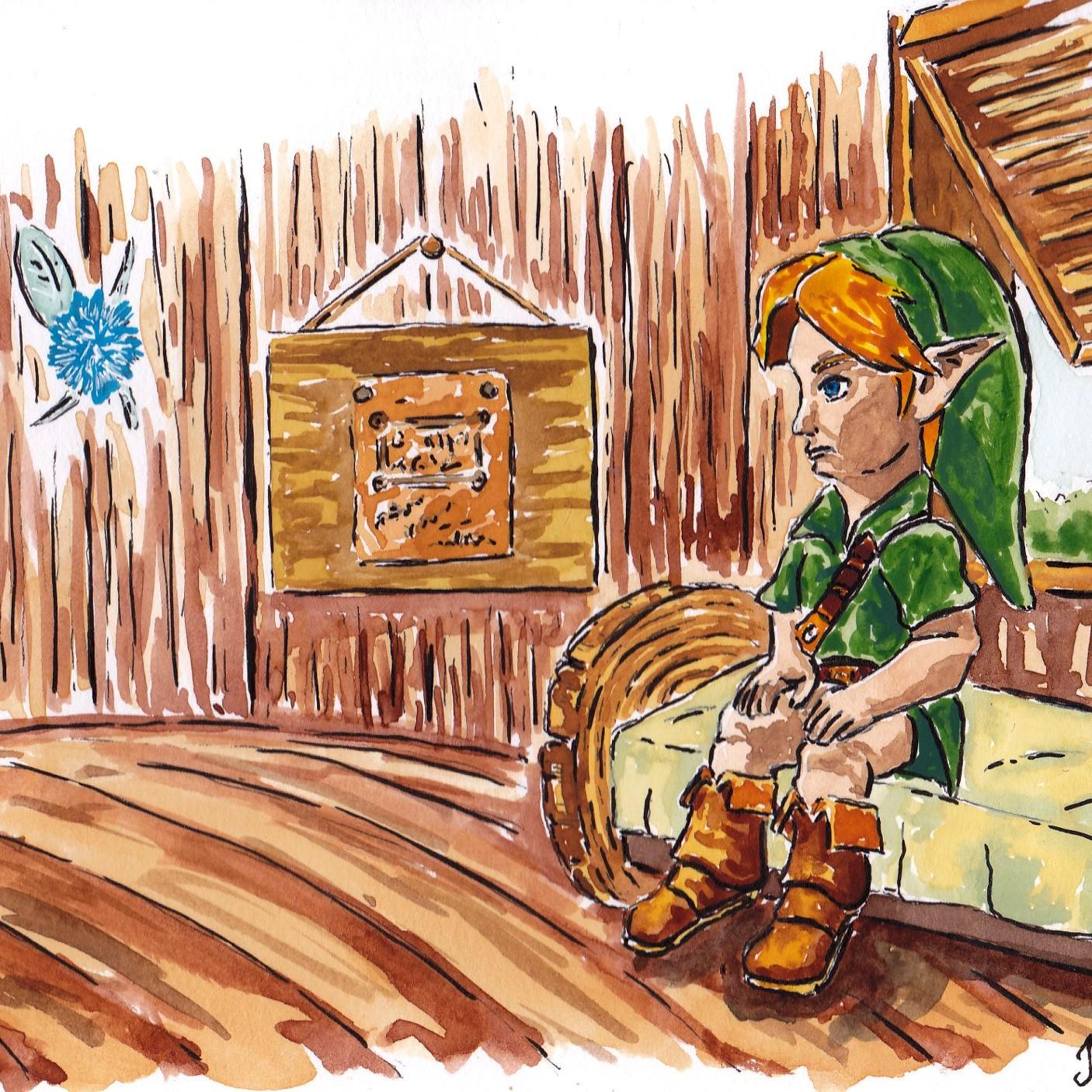 legend of zelda - art - illustration - drawing - painting - link - jglover - fantasy