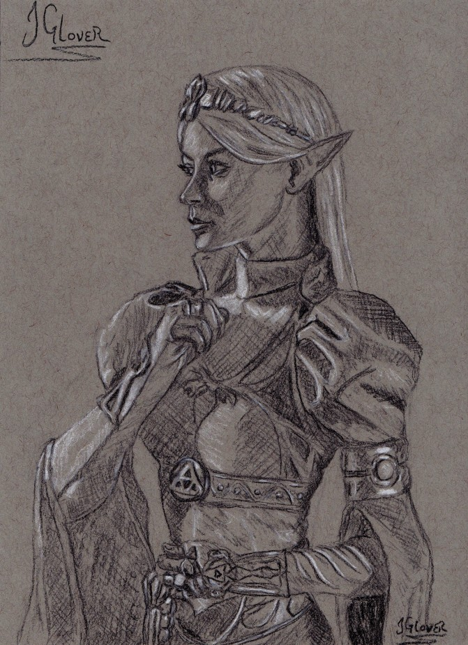 legend of zelda - art - illustration - fine art - contempoaray - portrait - charcoal - drawing