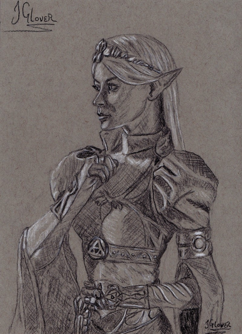 legend of zelda - art - illustration - fine art - contempoaray - portrait - charcoal - drawing