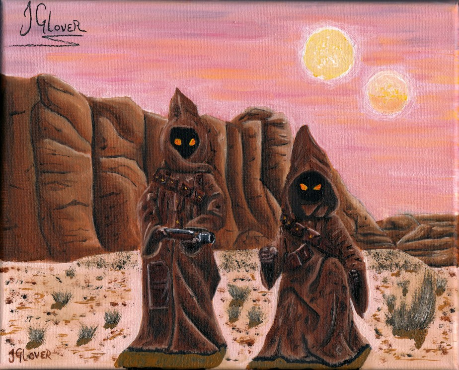 Jawas on Tatooine – Star Wars – OilPainting