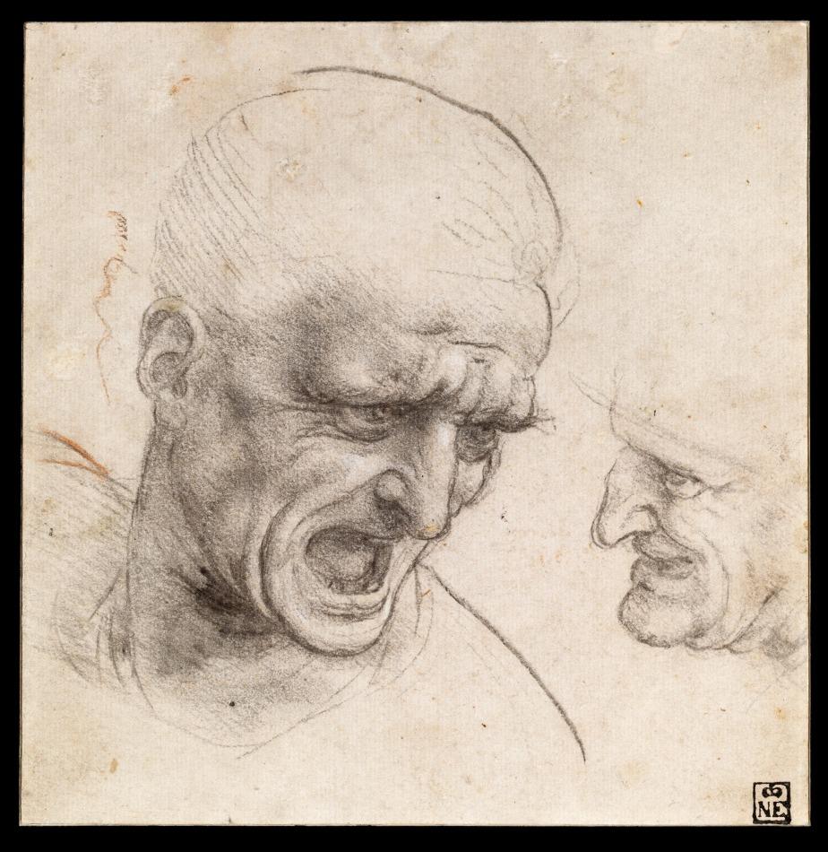 YouTube Video Master Study – Leonardo da Vinci – Study of Two Warriors'Heads