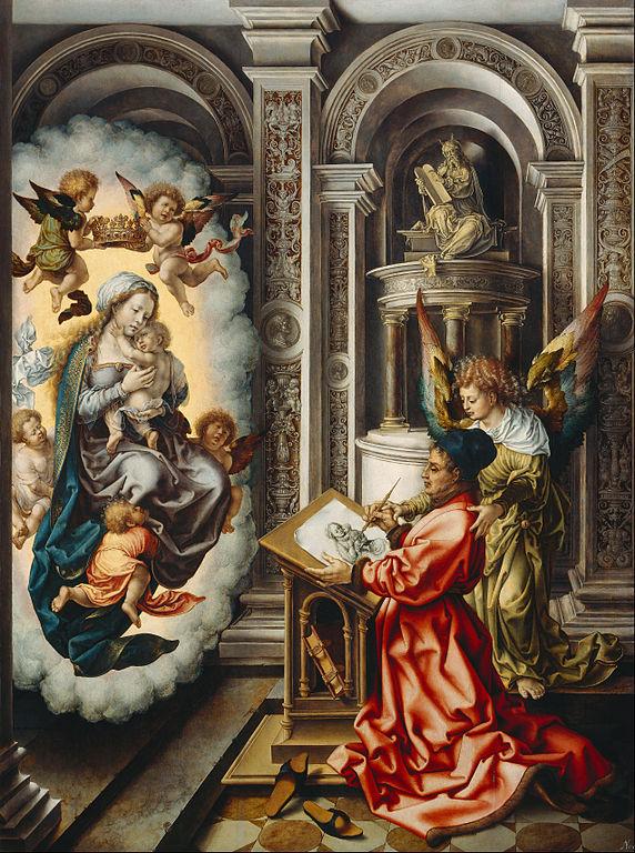 Jan Gossaert - St Luke - Painting - Madonna - Virgin - Mary - Oil - Painting - Art - History