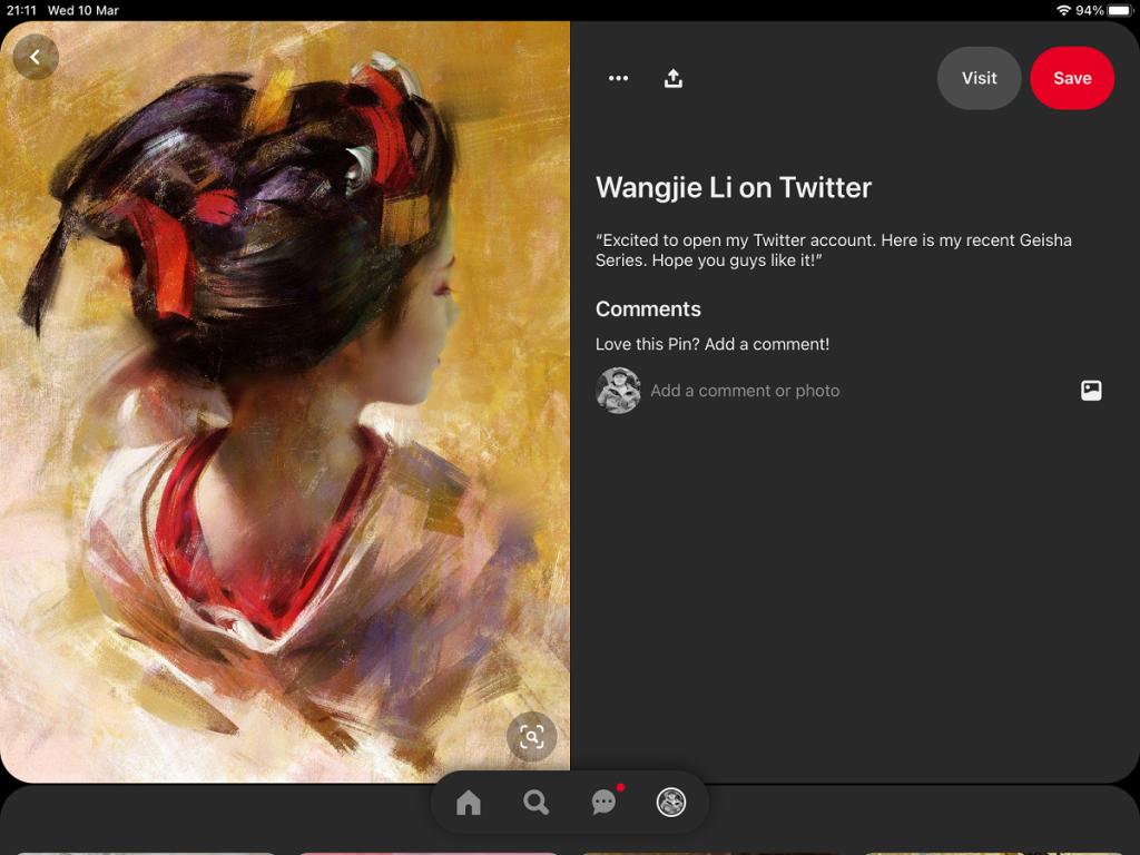 geisha painting inspiration fine art pinterest board wangjie li