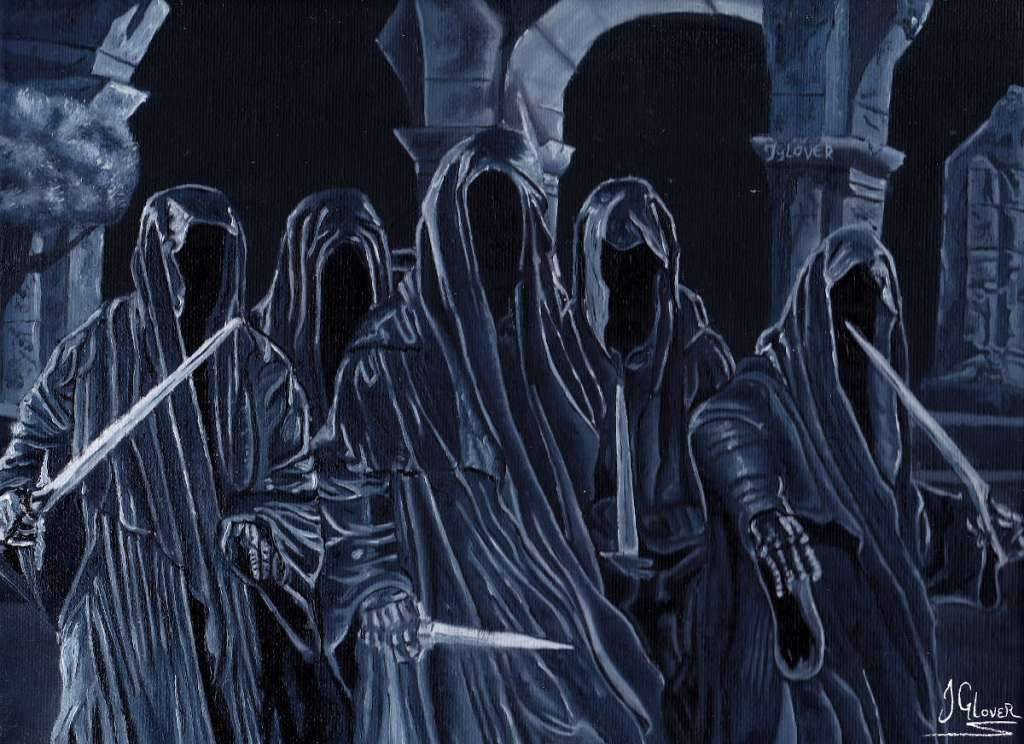 withcking of angmar and other ringwraiths at weathertop amon sul lotr art